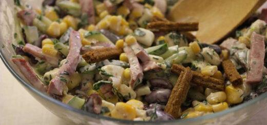 salat iz serdtsa v bljudtse